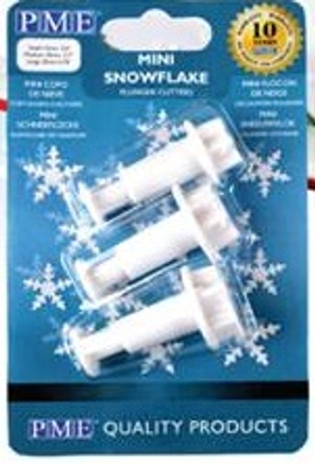PME Mini Snowflake Plunger Cutter Set SF709