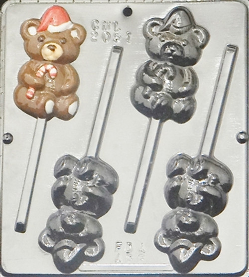 CML Christmas Bear Pop Chocolate Mold 2051