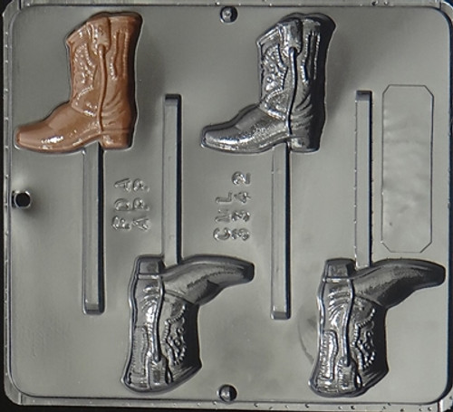 CML Cowboy Boot Lollipop Chocolate Mold 3342