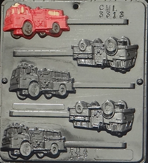 CML Fire Engine Pop Chocolate Mold 3313