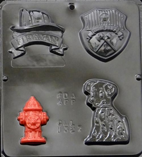 CML Fireman Assortment Chocolate Mold 1327