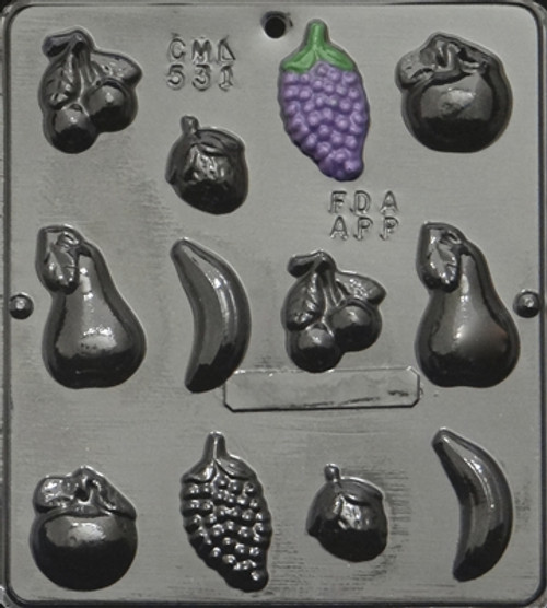 CML Fruit Assortment Chocolate Mold 531