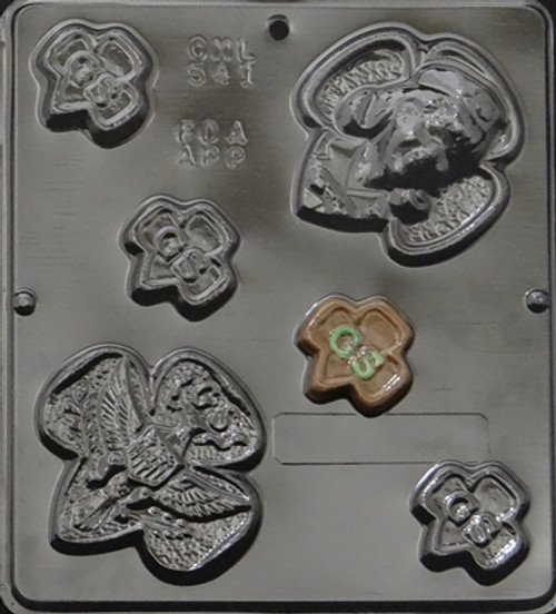 CML Girl Scout Assortment Chocolate Mold 541