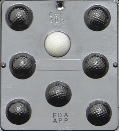 CML Golf Ball Assembly Chocolate Mold 305