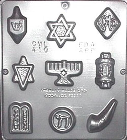 CML Jewish Assortment Chocolate Mold 410