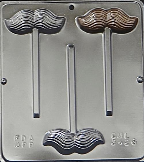 CML Mustache Pop Chocolate Mold 3426