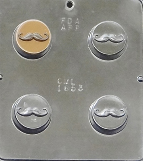 CML Mustache Cookie Chocolate Mold 1653