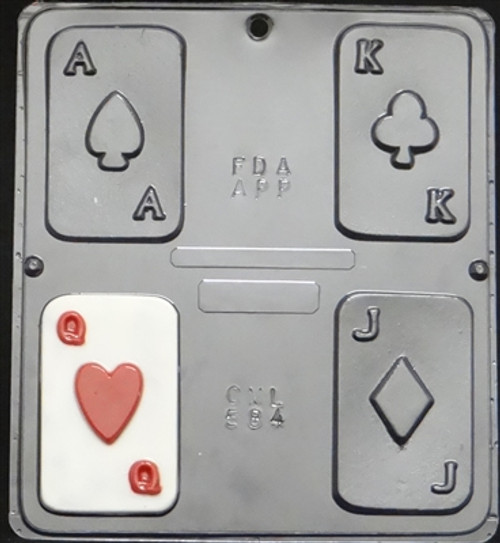 CML Playing Cards Chocolate Mold 584