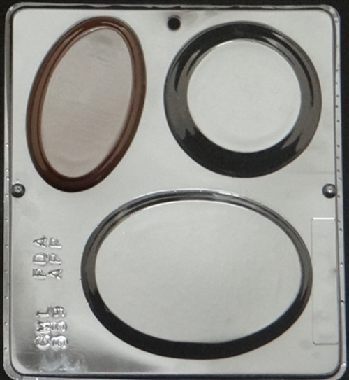 CML Round Plaque Assortment Chocolate Mold 559