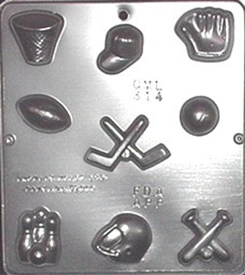 CML Sports Assortment Chocolate Mold 314