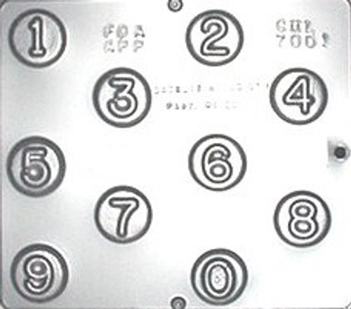 CML Numbers on a Circle Chocolate Mold 7001