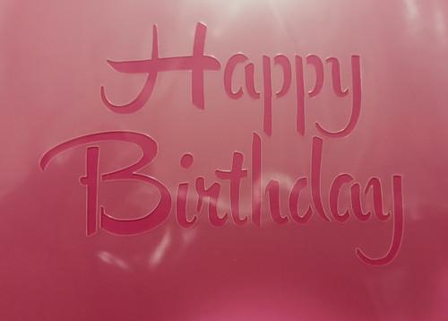 TCC Brush Script Happy Birthday Stencil STN-0538