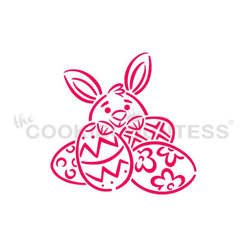 TCC Bunny and Eggs Stencil