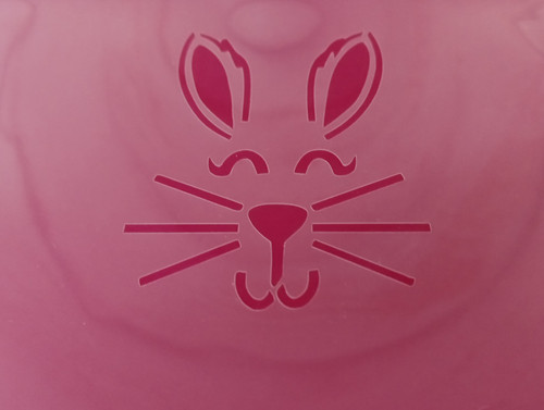 TCC Bunny Face Stencil
