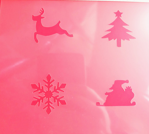 TCC Christmas 4-some 1 Stencil STN-0245