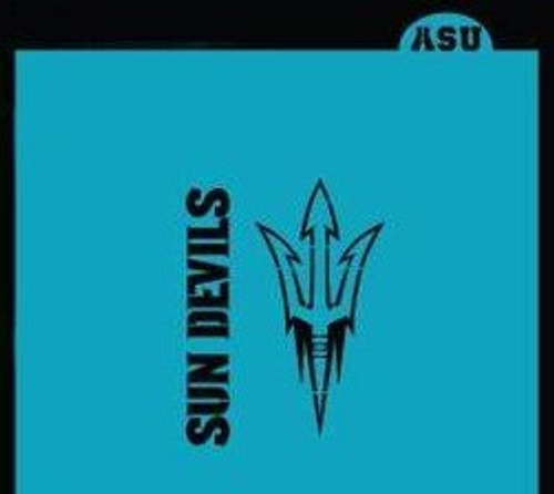 TCC Arizona State Sun Devils and Trident Stencil