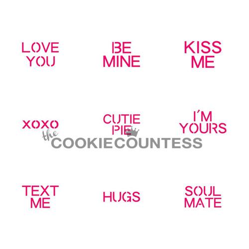 TCC Conversation Hearts Valentine's Day Stencil STN-0053