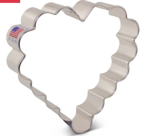 AC Scalloped Heart Cookie Cutter 8314A