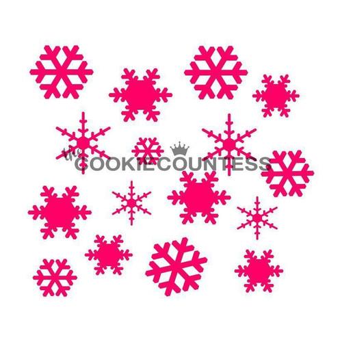 TCC Snowflakes Stencil STN-0023
