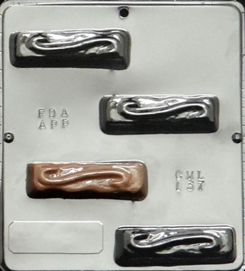 CML Swirl Top Candy Bar Chocolate Mold 137