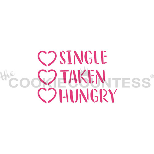 TCC Single Take Hungry Stencil STN-1119