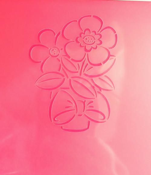 TCC Spring Flower Pot PYO Stencil