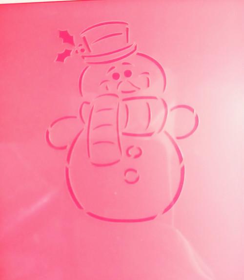 TCC Snowman Stencil