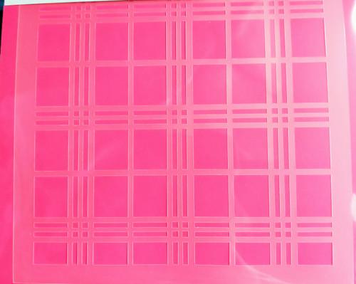 TCC New Plaid Stencil STN-0225