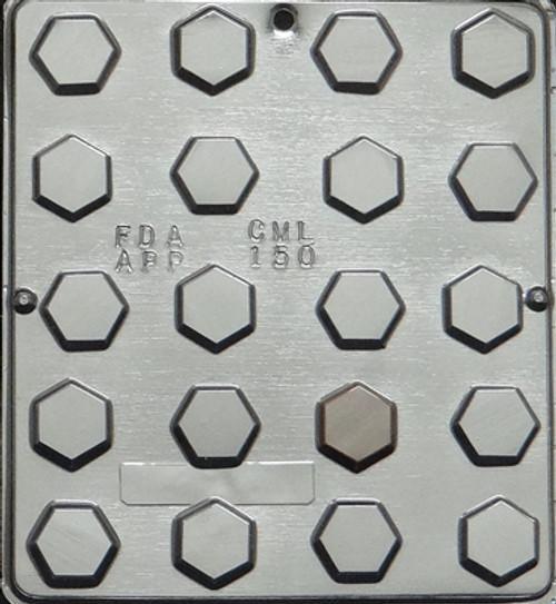 CML Hexagon Flat Pieces Chocolate Mold 150