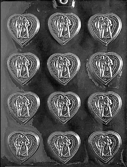 LOTP Wedding Hearts Chocolate Mold W007