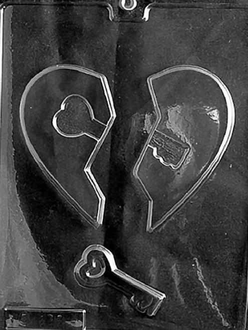 LOTP Heart with Key Chocolate Mold V055