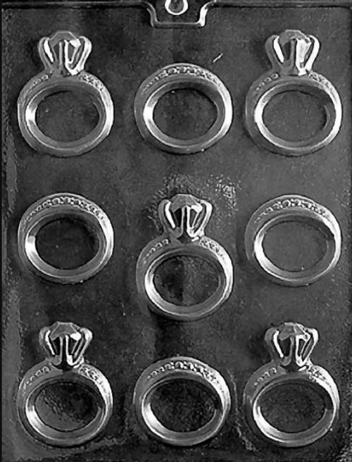 LOTP Wedding Rings Chocolate Mold W051