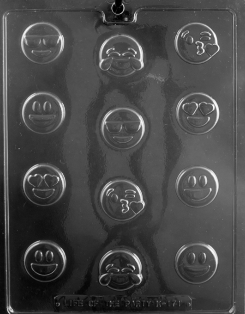 LOTP Bite Size Emojis Chocolate Mold K171