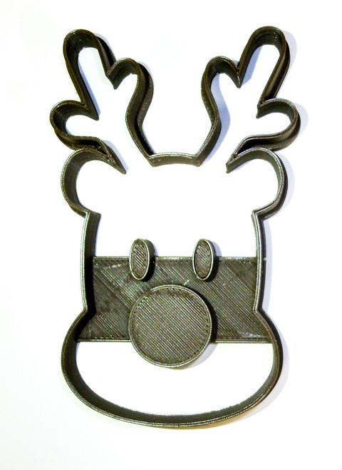 YNG Plastic Rudolph Cookie Cutter PR2032