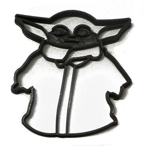 YNG Plastic Baby Yoda Cookie Cutter PR3301