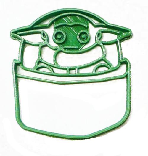 YNG Plastic Baby Yoda in Pod Cookie Cutter PR3302