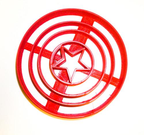 YNG Plastic Captain America Cookie Cutter PR490