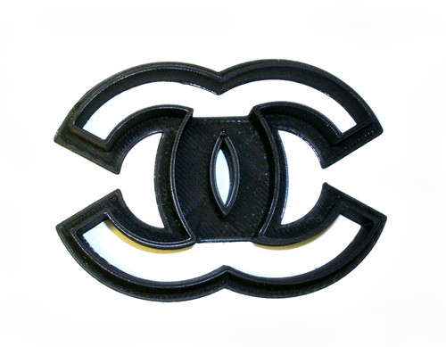 YNG Plastic Coco Chanel Logo Cookie Cutter PR843