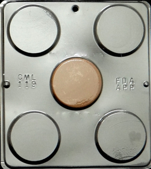 CML Plain Flat Circle Chocolate Mold 119