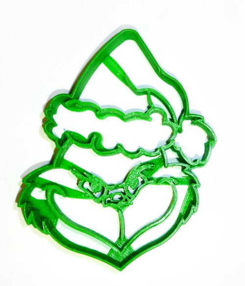 YNG Plastic Grinch Head Cookie Cutter PR682