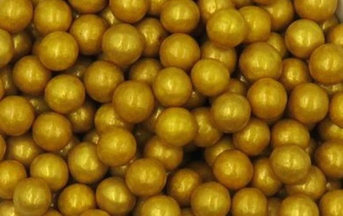 Gold 10mm Pearl Sprinkles 1lb Bag