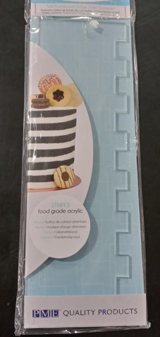 PME Tall Patterned Edge Side Scraper - Stripes PS61
