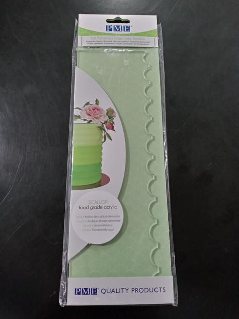 PME Tall Patterned Edge Side Scraper - Scallop PS64