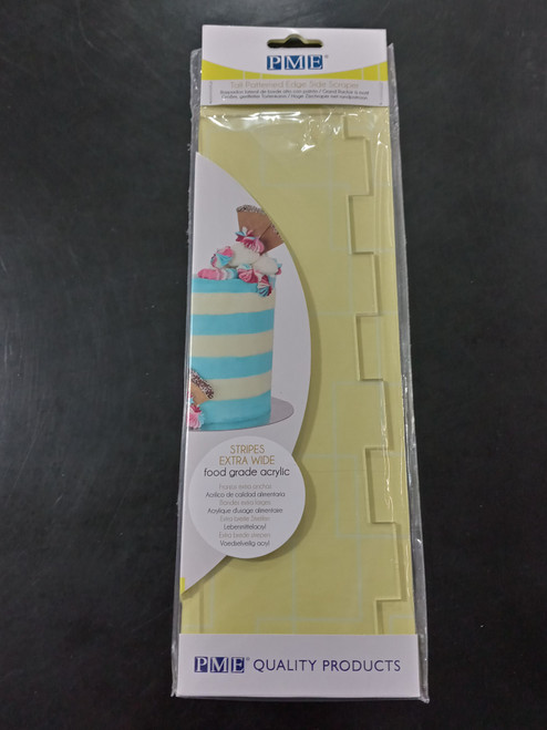 PME Tall Pattern Edge Scraper, Extra Wide Stripes PS65