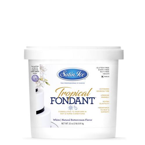 SI White Tropical Fondant - 2lb 50532