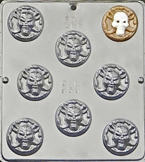 CML Pirate Coin Chocolate Mold 959