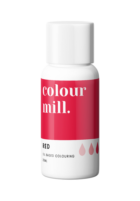 Colour Mill Red 20ml Oil Based Food Coloring