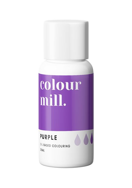 Colour Mill Purple 20ml Oil Based Food Coloring