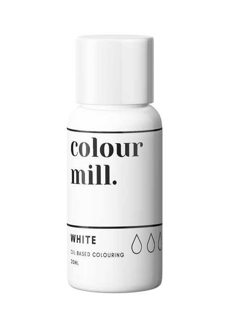 Colour Mill White 20ml Oil Based Food Coloring