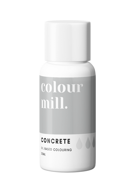 Colour Mill Concrete 20ml Oil Based Food Coloring